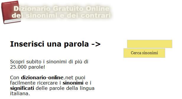 Dizionario dei Sinonimi screenshot